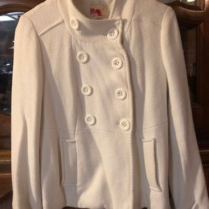 Forever 21 white button up coat